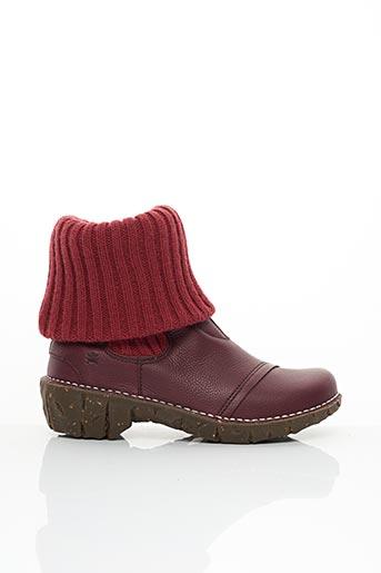Bottines/Boots rouge EL NATURALISTA pour femme