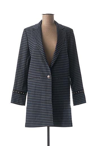 Manteau long bleu MOS MOSH pour femme
