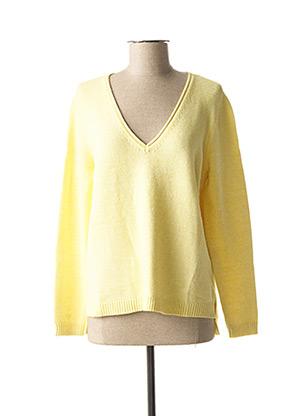 Pull col V jaune ONLY pour femme
