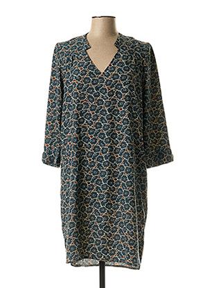 Robe mi-longue vert EMA BLUE'S pour femme