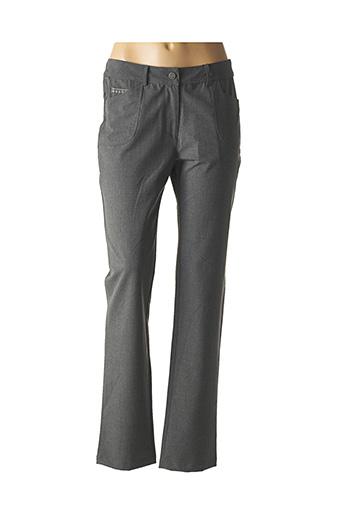 Pantalon casual gris AGATHE VELMONT pour femme