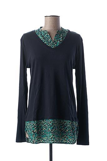 T-shirt manches longues bleu BLANC BOHEME pour femme