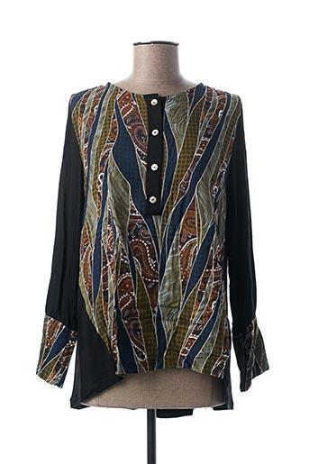 T-shirt manches longues noir BLANC BOHEME pour femme