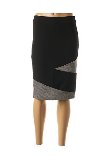 Jupe mi-longue noir DIAMBRE pour femme