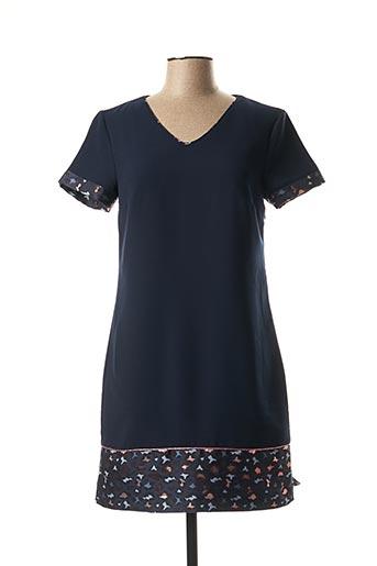 Robe courte bleu ET COMPAGNIE pour femme