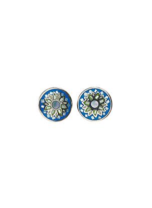 Boucles d'oreilles bleu IKPS pour femme