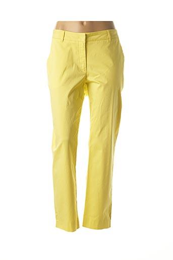 Pantalon casual jaune BARBARA LEBEK pour femme