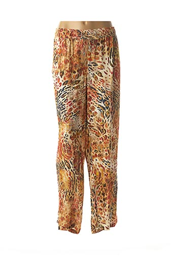 Pantalon casual orange BARBARA LEBEK pour femme
