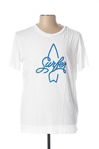 T-shirt manches courtes blanc HARTFORD pour homme