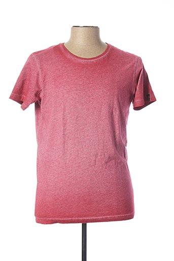 T-shirt manches courtes rouge HERO SEVEN pour homme