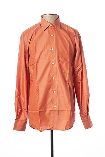 Chemise manches longues orange DALMORY pour homme
