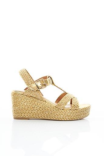 Sandales/Nu pieds jaune ADIGE pour femme