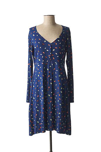 Robe mi-longue bleu PRINCESSE NOMADE pour femme