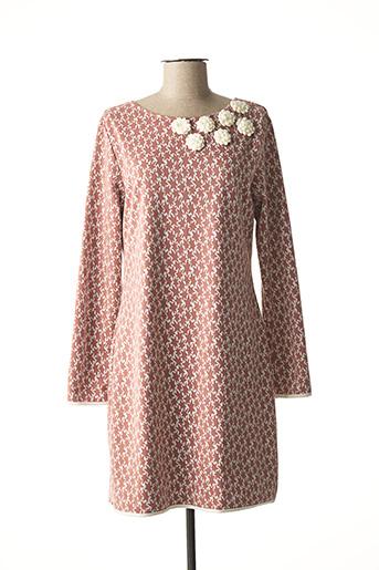 Robe mi-longue rose AKINO LAUDE pour femme