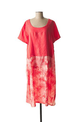 Robe mi-longue rose KOKOMARINA pour femme