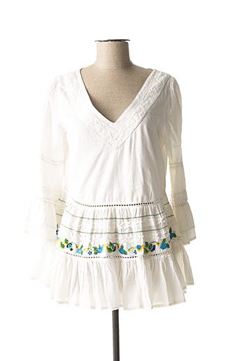 Tunique manches longues blanc RHUM RAISIN pour femme