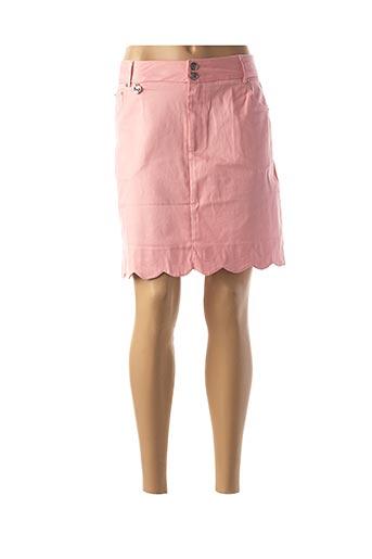 Jupe courte rose AKINO LAUDE pour femme