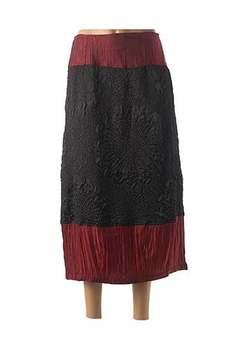 Jupe longue rouge NID D'ABEILLE pour femme