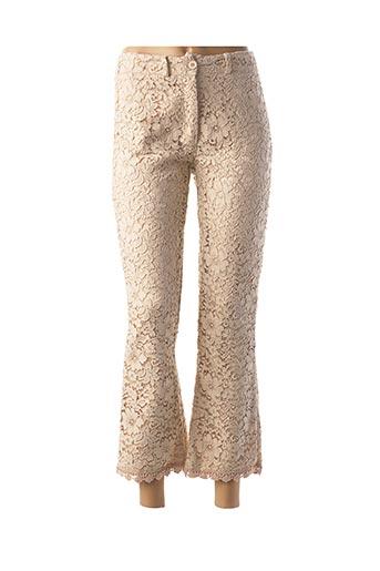Pantalon casual beige ANNA pour femme