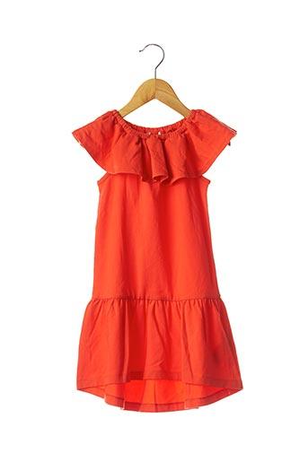 Robe mi-longue orange LILI GAUFRETTE pour fille
