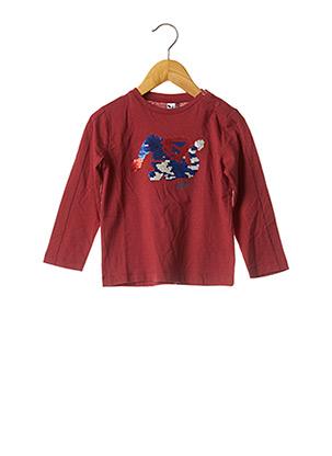 T-shirt manches longues rouge 3 POMMES pour fille