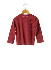 T-shirt manches longues rouge 3 POMMES pour fille seconde vue