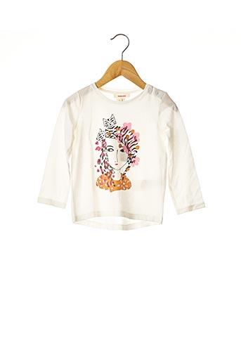 T-shirt manches longues beige CATIMINI pour fille