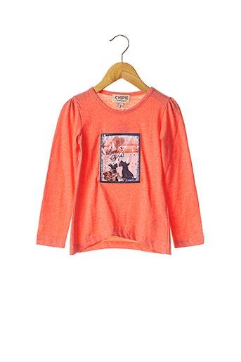 T-shirt manches longues orange CHIPIE pour fille