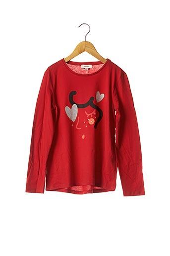 T-shirt manches longues rouge CATIMINI pour fille