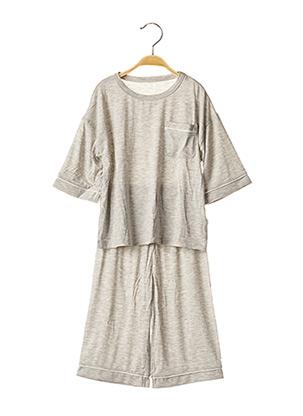 Pyjashort gris BALABALA X KIDILIZ pour garçon