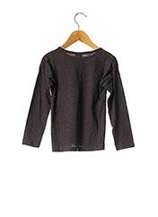 T-shirt manches longues gris 3 POMMES pour fille seconde vue