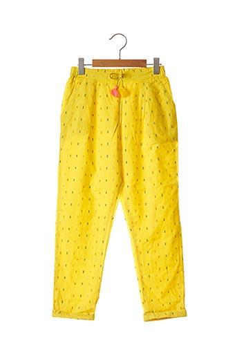 Pantalon casual jaune CATIMINI pour fille