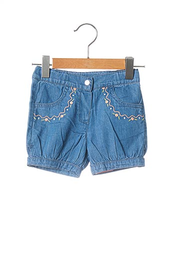 Short bleu 3 POMMES pour fille