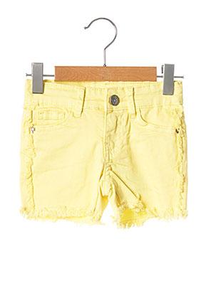 Short jaune 3 POMMES pour fille