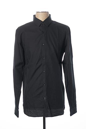 Chemise manches longues noir JACK & JONES pour homme