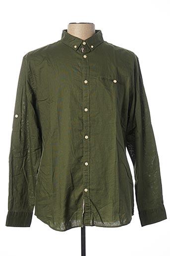 Chemise manches longues vert JACK & JONES pour homme