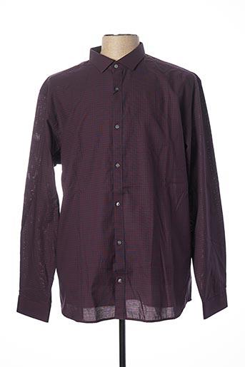 Chemise manches longues violet JACK & JONES pour homme