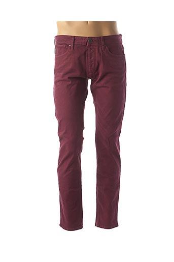 Jeans coupe slim rouge JACK & JONES pour homme
