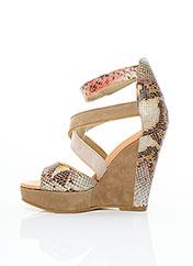 Sandales/Nu pieds beige SERAFINI pour femme seconde vue