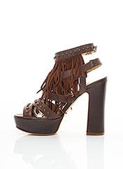 Sandales/Nu pieds marron STRATEGIA pour femme seconde vue