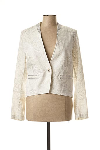 Veste chic / Blazer beige EVA KAYAN pour femme