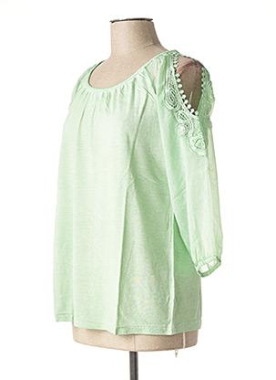 Blouse manches courtes vert HEINE pour femme