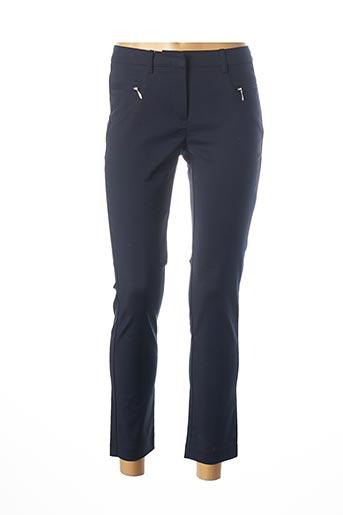 Pantalon 7/8 bleu ASHLEY BROOKE pour femme