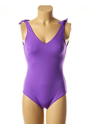 Maillot de bain 1 pièce violet SIMONE PERELE pour femme