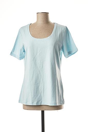 T-shirt manches courtes bleu BEST CONNECTIONS pour femme