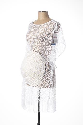 Robe courte blanc CACHE COEUR pour femme