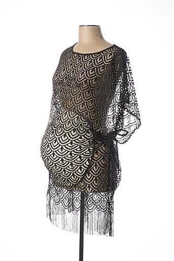 Robe courte noir CACHE COEUR pour femme