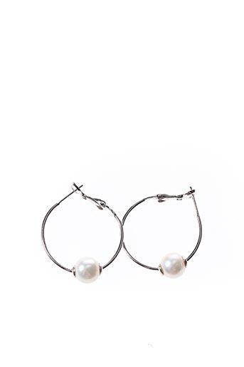 Boucles d'oreilles blanc AMBROSIA PARIS pour femme