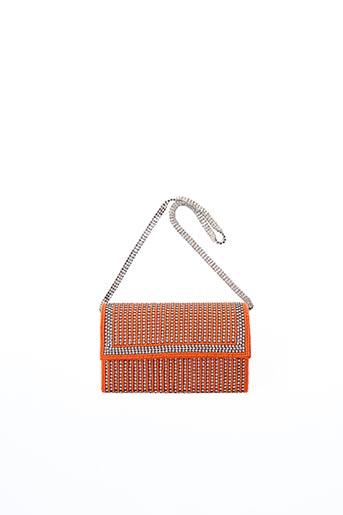 Pochette orange AMBROSIA PARIS pour femme
