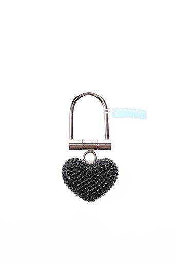 Porte-clé noir AMBROSIA PARIS pour femme